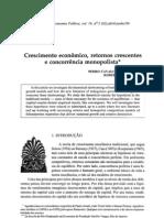 Crescimento Economico - Artigo Pedro Cavalcanti Roberto Ellery