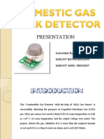 Presentation Major, gas leakage detector