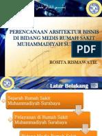 Perencanaan Arsitektur Bisnis Di Bidang Medis Rumah Sakit Muhammadiyah Surabaya