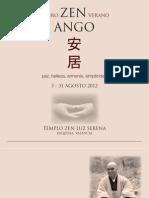 Retiro de meditación budista zen agosto 2012