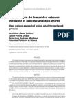 La valoración de inmuebles urbanos mediante el proceso analítico en red