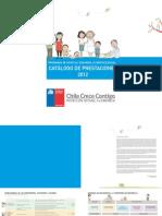 Catalogo de Prestaciones Programa de Apoyo Desarrollo 2012