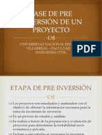 ETAPAS DE LA FASE DE PRE INVERSIÓN