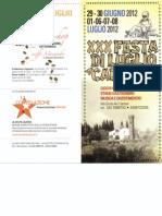 Programma Festa Luglio 2012 Carcheri