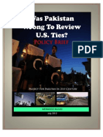 Was Pakistan Wrong to Review US Ties?