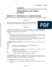 As 2341.15-1994 Methods of Testing Bitumen and Roadmaking Products Distillation of Cutback Bitumen