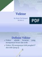 Tugas Mtk - Vektor (Rizka t - Xii Ipa Ci)