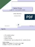 Local Volatility Models- Ankirchner