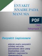 Penyakit Legionnaire Pada Manusia Ppt