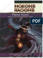 d&d 4e - Psionic Power