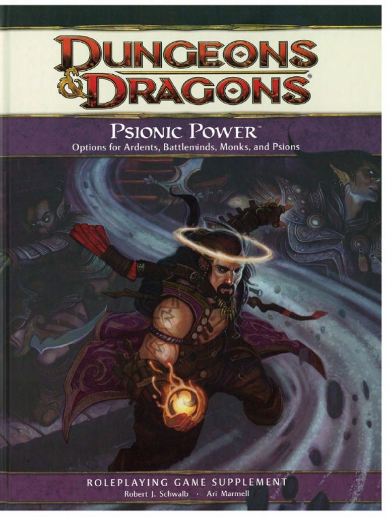 d&d 4e - Psionic Power | Gary Gygax Games | Tsr (Company) Games