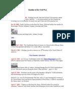 Timeline of the Civil War