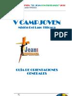 Orientaciones Generales V Campjoven MLT 2012