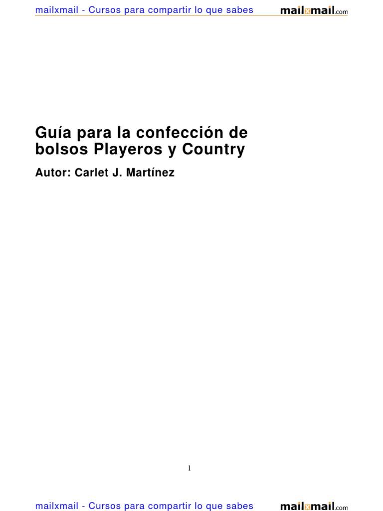 Guia Confeccion Bolsos Playeros Country 5865 Completo