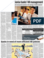 Efficient HR Policies for Banks