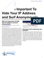 Why It Is Important To Hide Your IP Address and Surf Anonymously