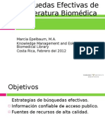 Búsquedas Efectivas de la Literatura Biomédica
