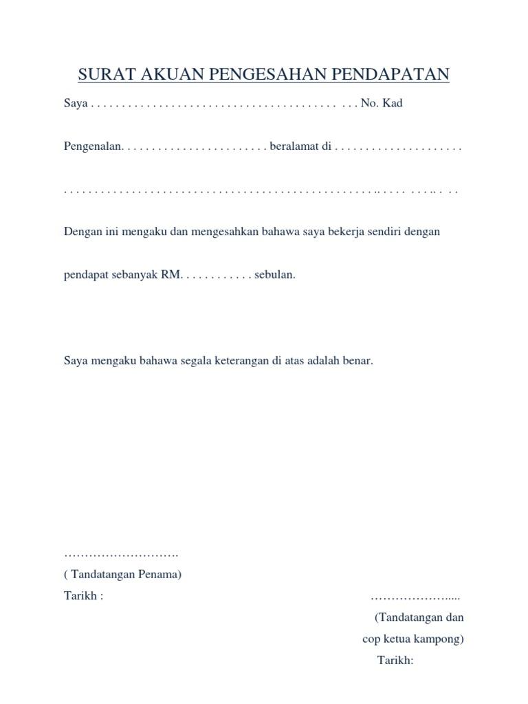 Surat Rasmi Akuan Sumpah Resepi Book I