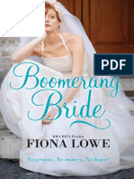 Boomerang Bride by Fiona Lowe - Chapter Sampler