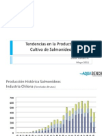 tendencias en la productividad del cultivo de salmonídeos
