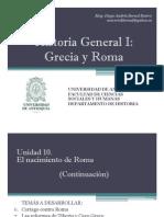 Cronograma de sesiones y exposiciones Historia General I