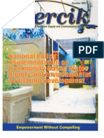 Indonesia Water Supply and Sanitation Magazine PERCIK October 2003.