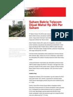 Newsletter Untuk Negeri 20120702 Senin Edisi III78Saham Bakrie Telecom Dijual Mahal Rp 265 Per Saham 20120702180523