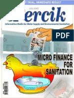 Microfinance for Sanitation. Indonesia Water Supply and Sanitation Magazine PERCIK July 2005.