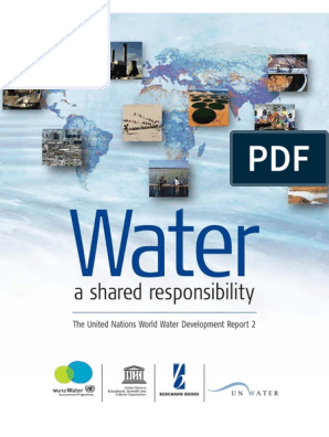 Water, A Shared Responsibility   Water Resources   Sustainability