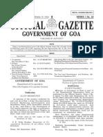 Goa Bye Laws 2012