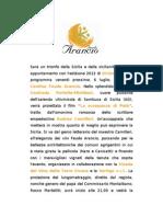 Comunicato Stampa Feudo Arancio - Divincinema 2012