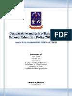 Comparative Analysis of Bangladesh National Education Policy 2000 and 2010 (Sajid Karim)