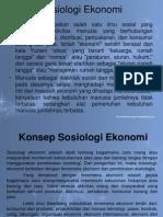Sosiologi ekonomi