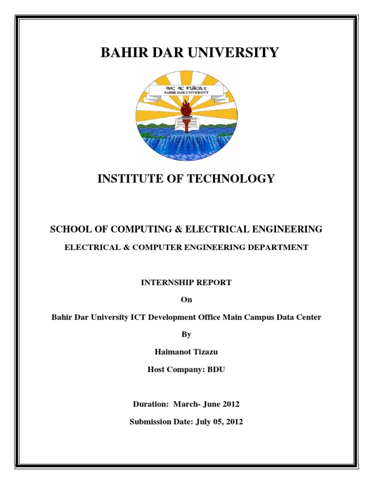 Internship Report Sample | Final Internship Report Pdf Active Directory Network Switch