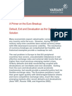 A Primer on the Euro Breakup