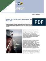 Bulletin_US Ballast Water Exchange Final Regulation