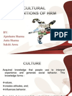 Culture Dimentions of HRM