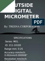 Outside Digital Micrometer Presentation