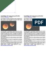 Un Eclipse de Luna Muy Particular