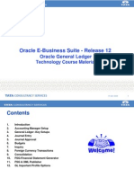 Oracle General Ledger R12 -Technology Course Material V1.0