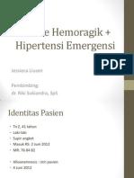 Stroke Hemoragik + Hipertensi Emergensi