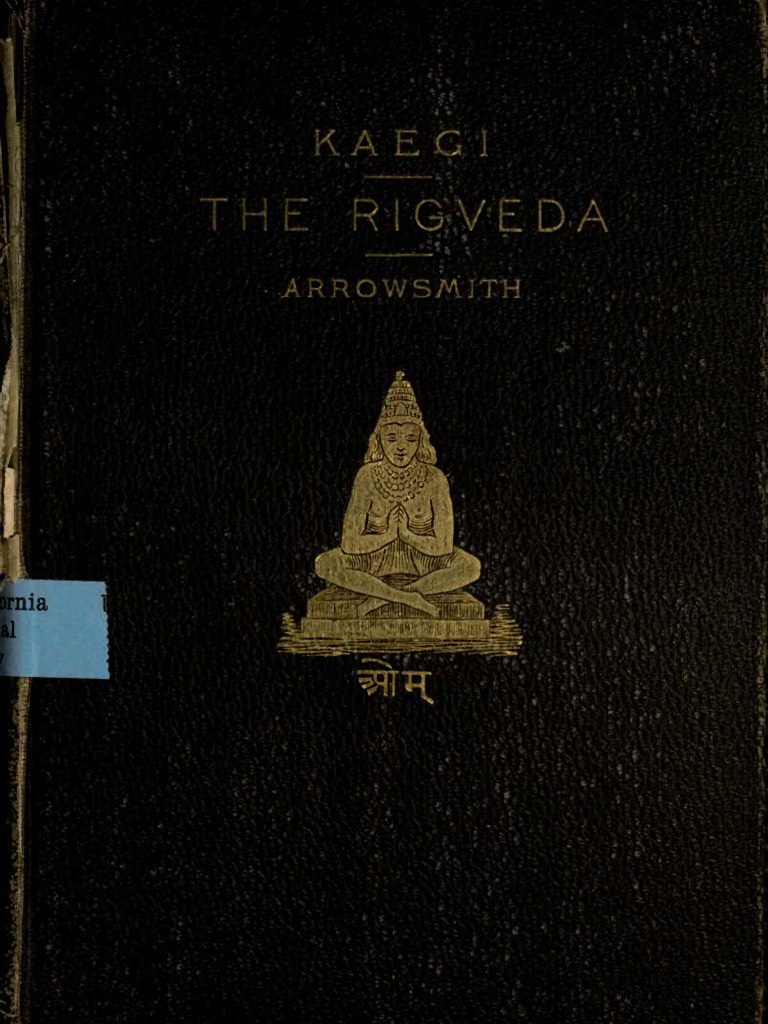 Kaegi Rig Veda the Oldest Literature of the Indians 1886