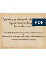 Visibility as a Lever of Collaboration (Nama Budhathoki and Chip Bruce)