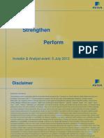 Aviva plc Investor and Analyst update 5 July 2012