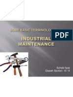 Industrial Maintenance Lecture# 1, Suhaib Ilyas