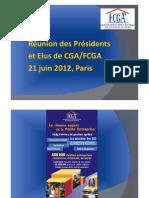 Réunions des Présidents et Elus des CGA à Paris le 21 juin 2012