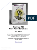Maximum Midi - Writing Music Applications in C++