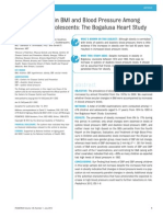 Secular Trends in BMI and Blood Pressure Among Children and Adolescents