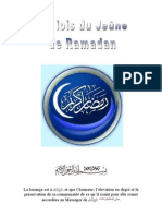 Les Lois du jeûne (Ramadan)