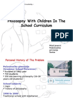 Philosophy With Children in the School Curriculum